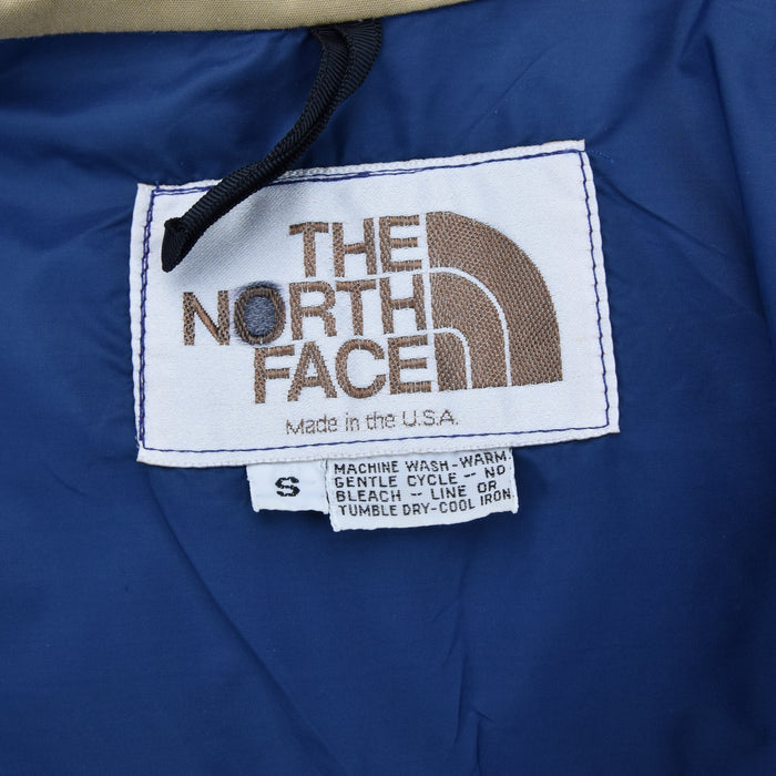 Vintage The North Face Mountain Parka Jacket Brown Made in USA Talon Zip S label