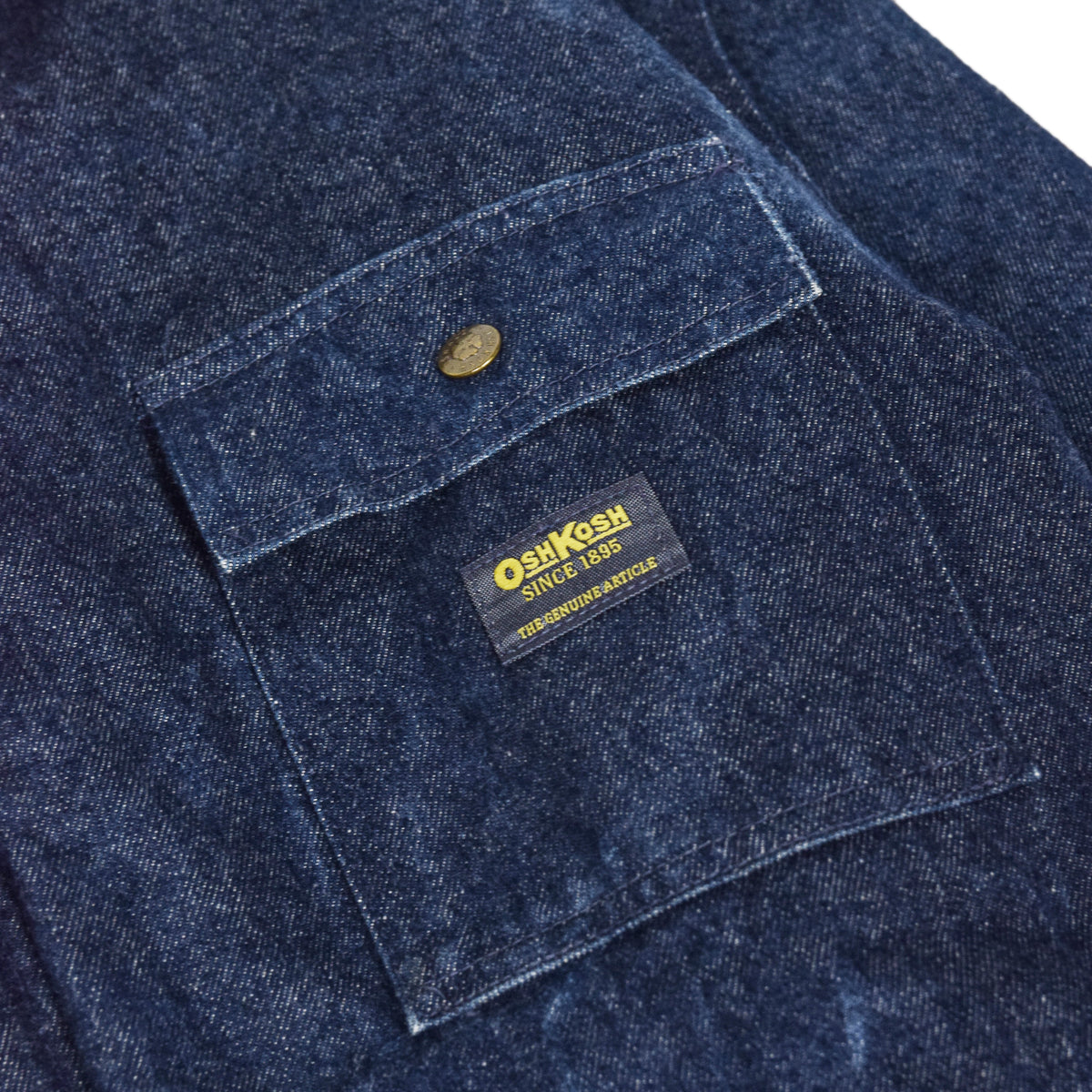 Vintage Osh Kosh USA Denim Quilt Lined Worker Chore Jacket L / XL Oversized POCKET
