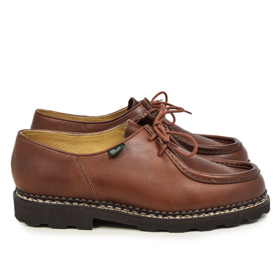 Paraboot Michael Marche II Lis Marron Lace Up Leather Derby Shoe SIDE
