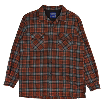 Pendleton Plaid Long Sleeve Virgin Wool Check Board Shirt L FRONT