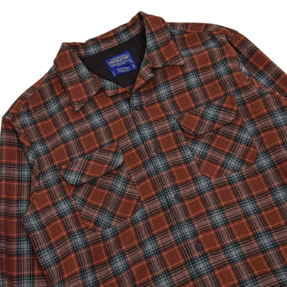 Pendleton Plaid Long Sleeve Virgin Wool Check Board Shirt L CHEST