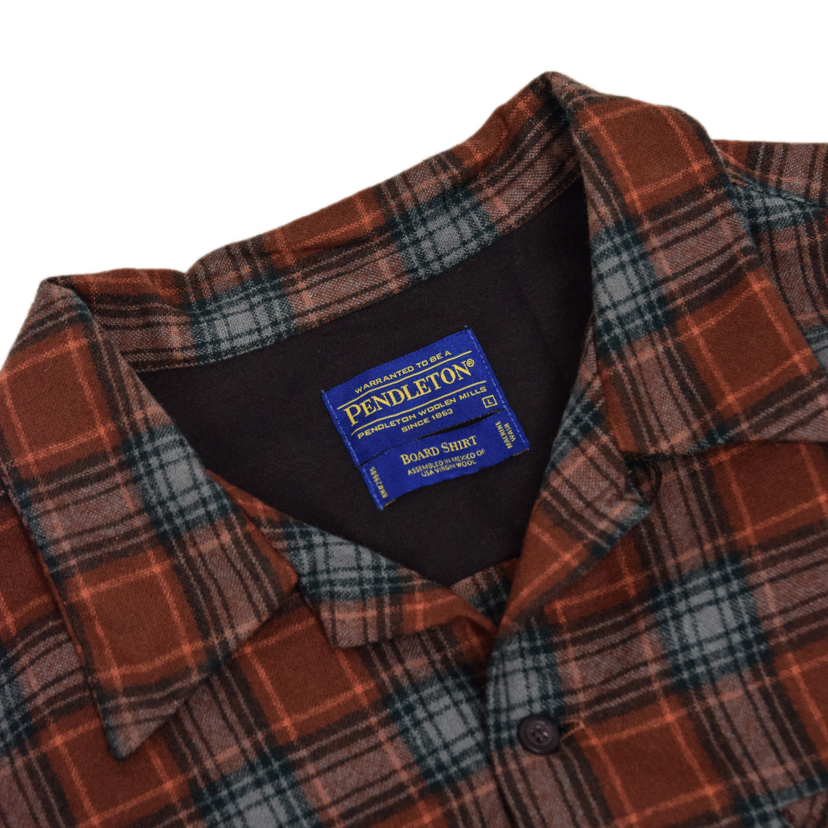 Pendleton Plaid Long Sleeve Virgin Wool Check Board Shirt L COLLAR