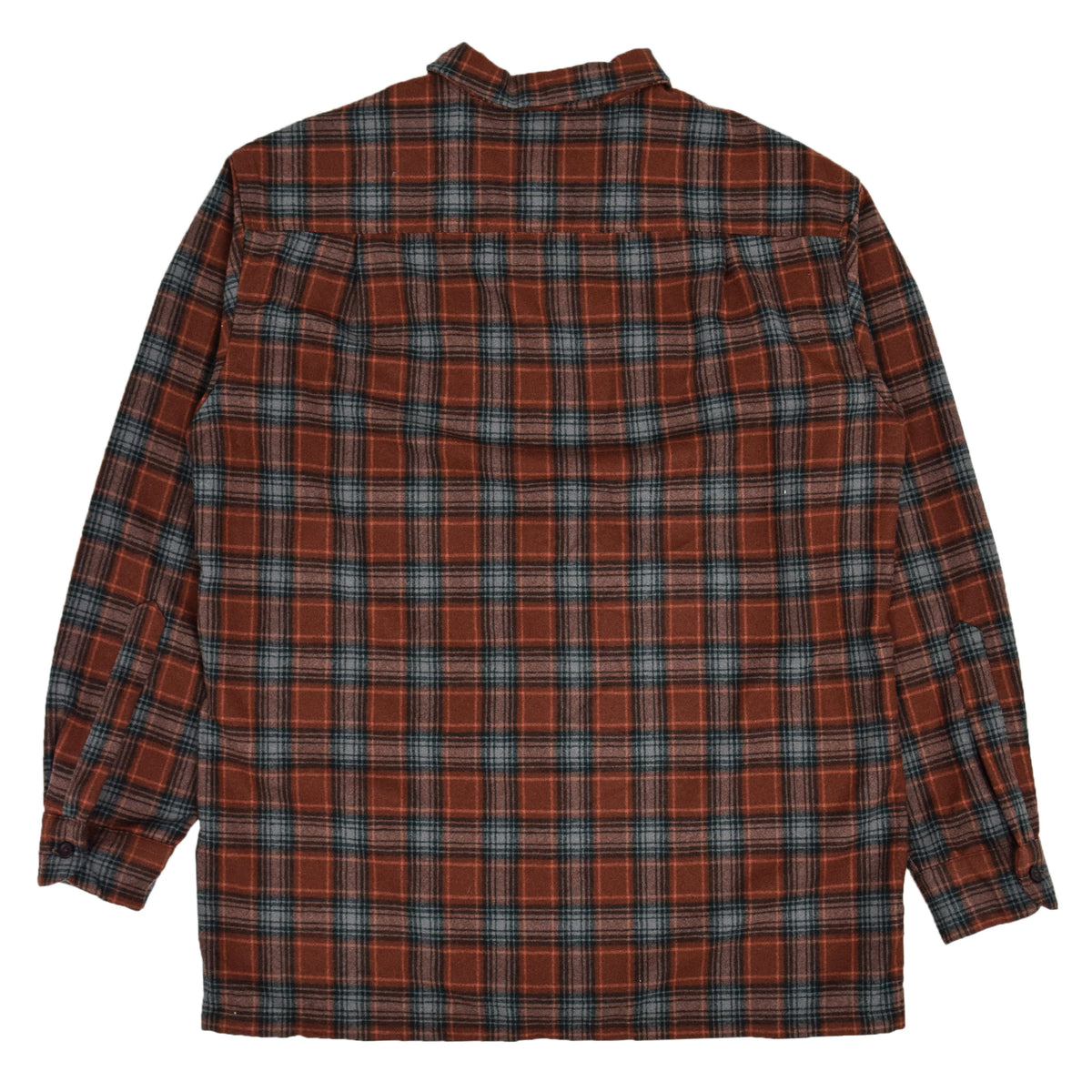 Pendleton Plaid Long Sleeve Virgin Wool Check Board Shirt L BACK