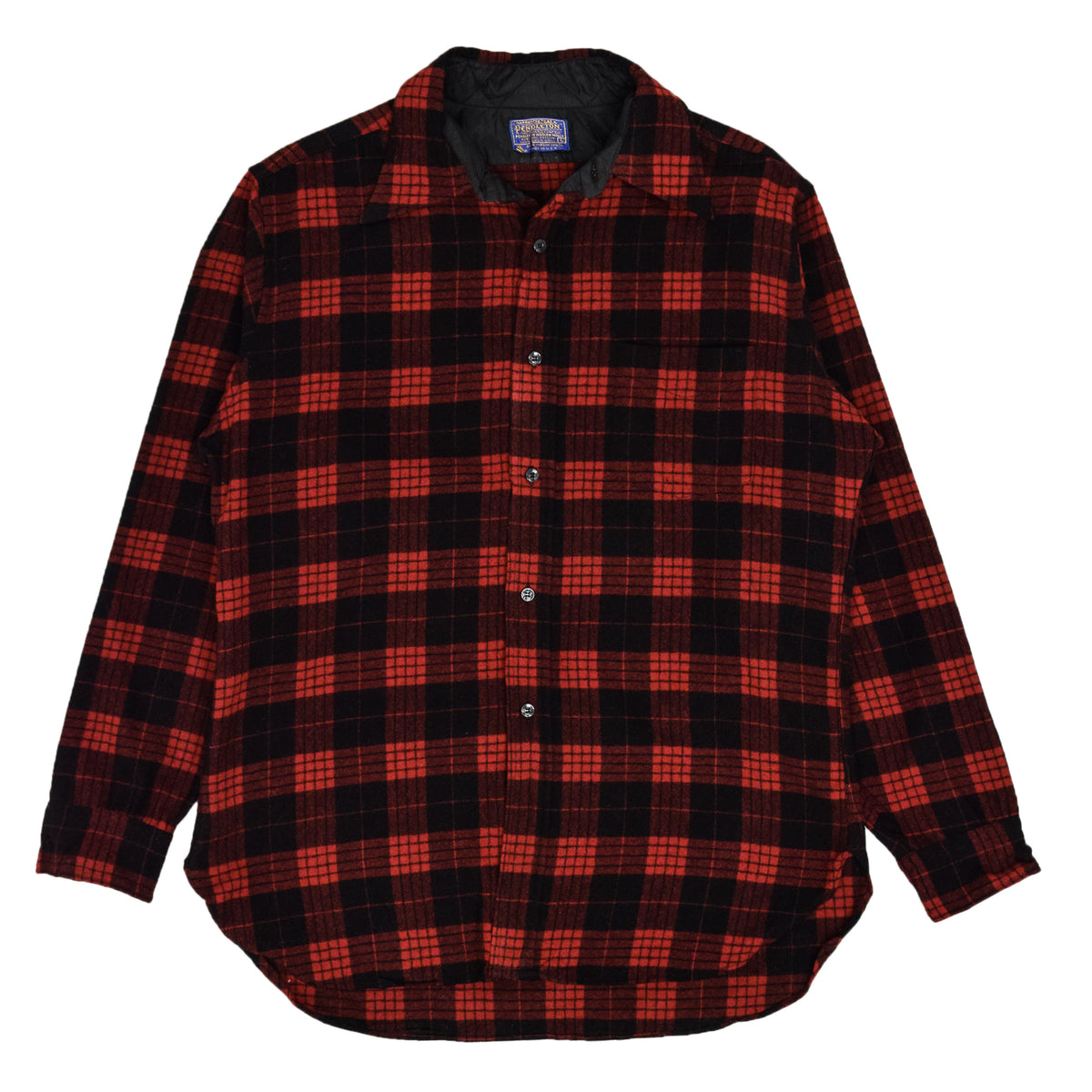 Vintage Pendleton Plaid Long Sleeve Made In USA Pure Virgin Wool Check Shirt L FRONT