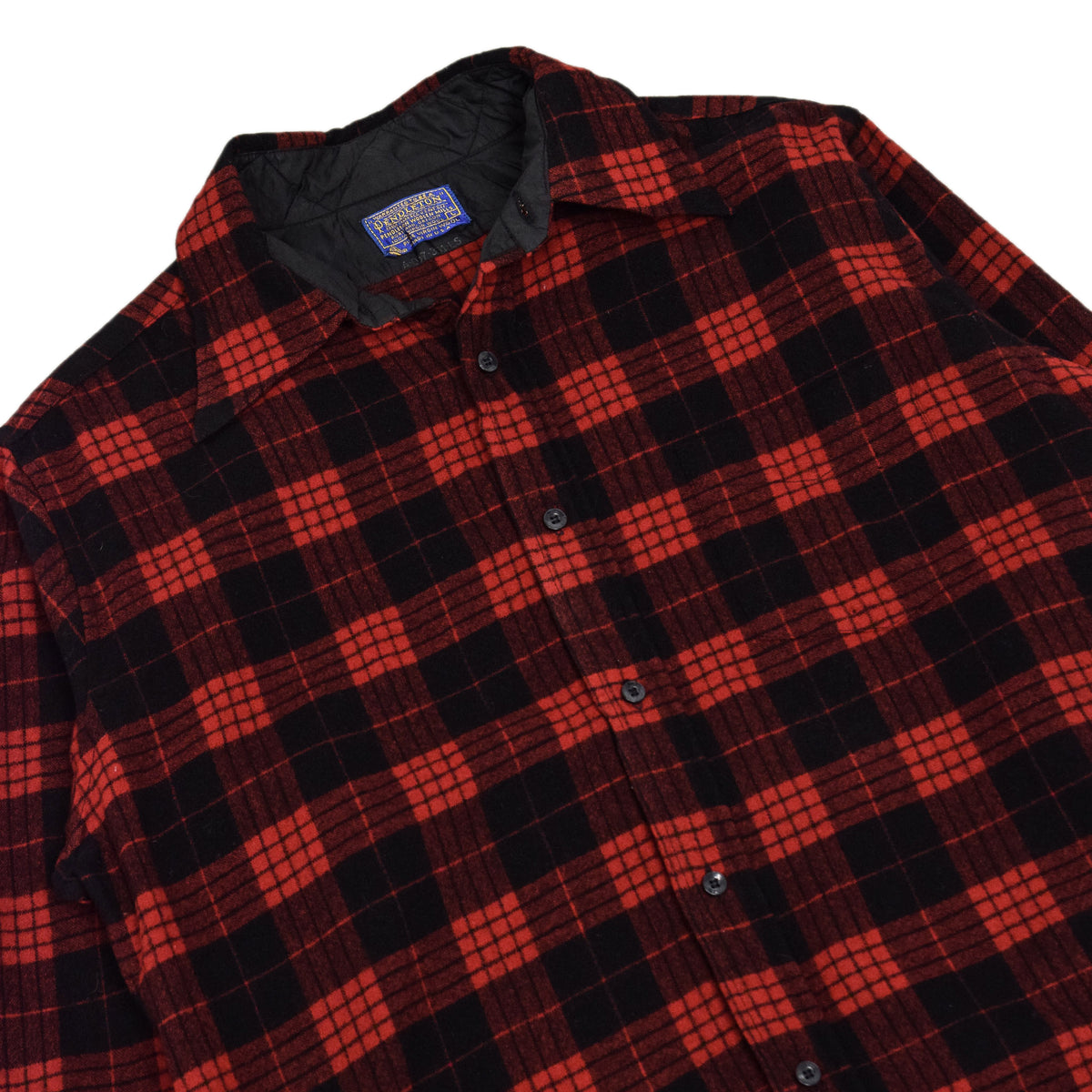 Vintage Pendleton Plaid Long Sleeve Made In USA Pure Virgin Wool Check Shirt L