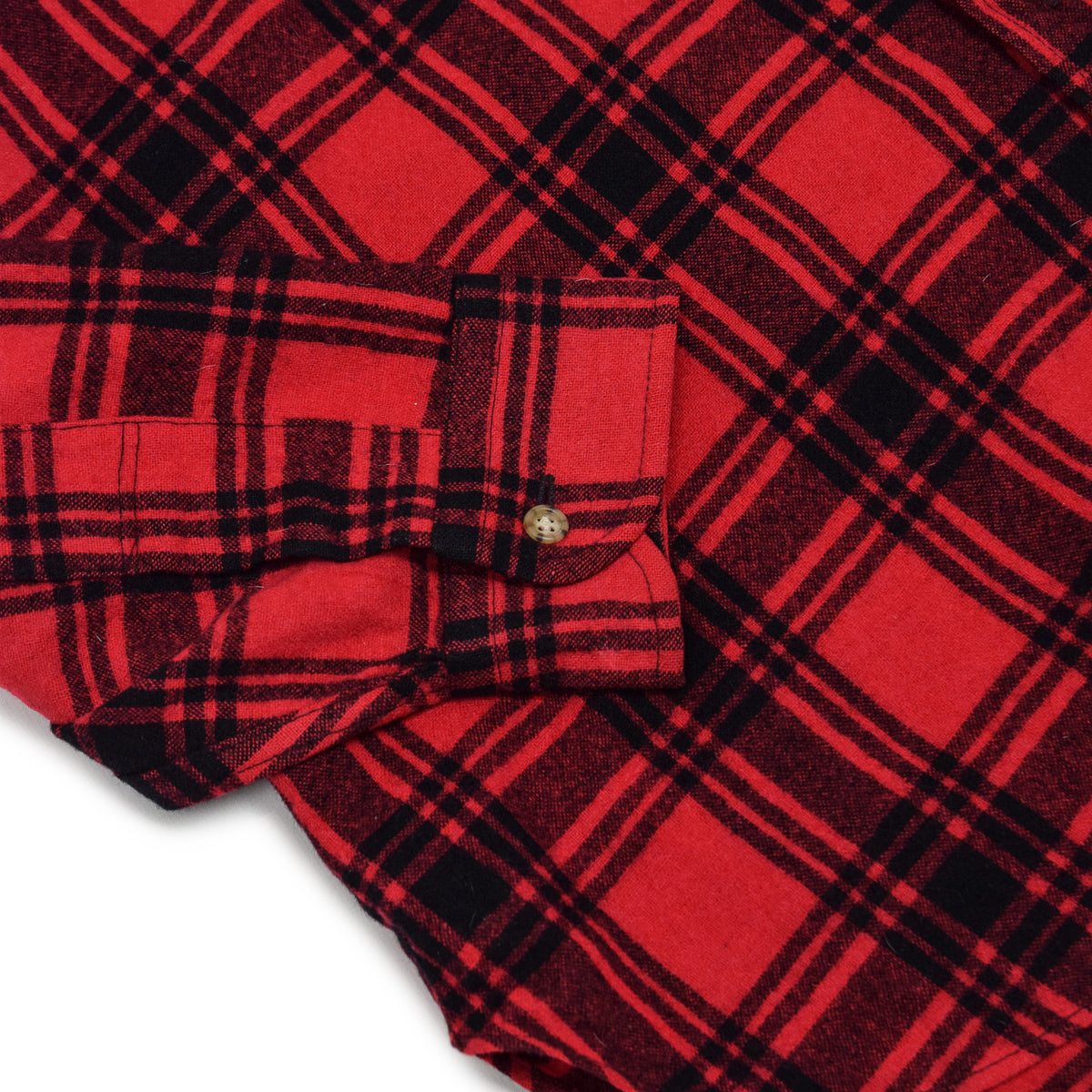 Vintage Pendleton Plaid Long Sleeve Made In USA Virgin Wool Check Shirt XL cuff