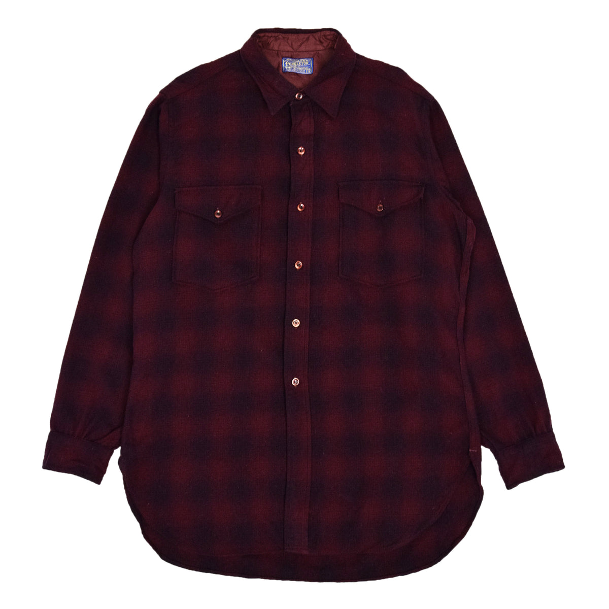 Vintage Pendleton Plaid Long Sleeve Virgin Wool Check Shirt L FRONT
