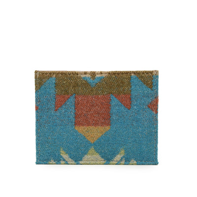 Pendleton Journey West Wool Leather Slim Card Holder Wallet front