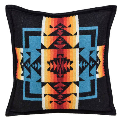 Pendleton Chief Joseph Patterned Cushion Black Made in the USA FRONT
