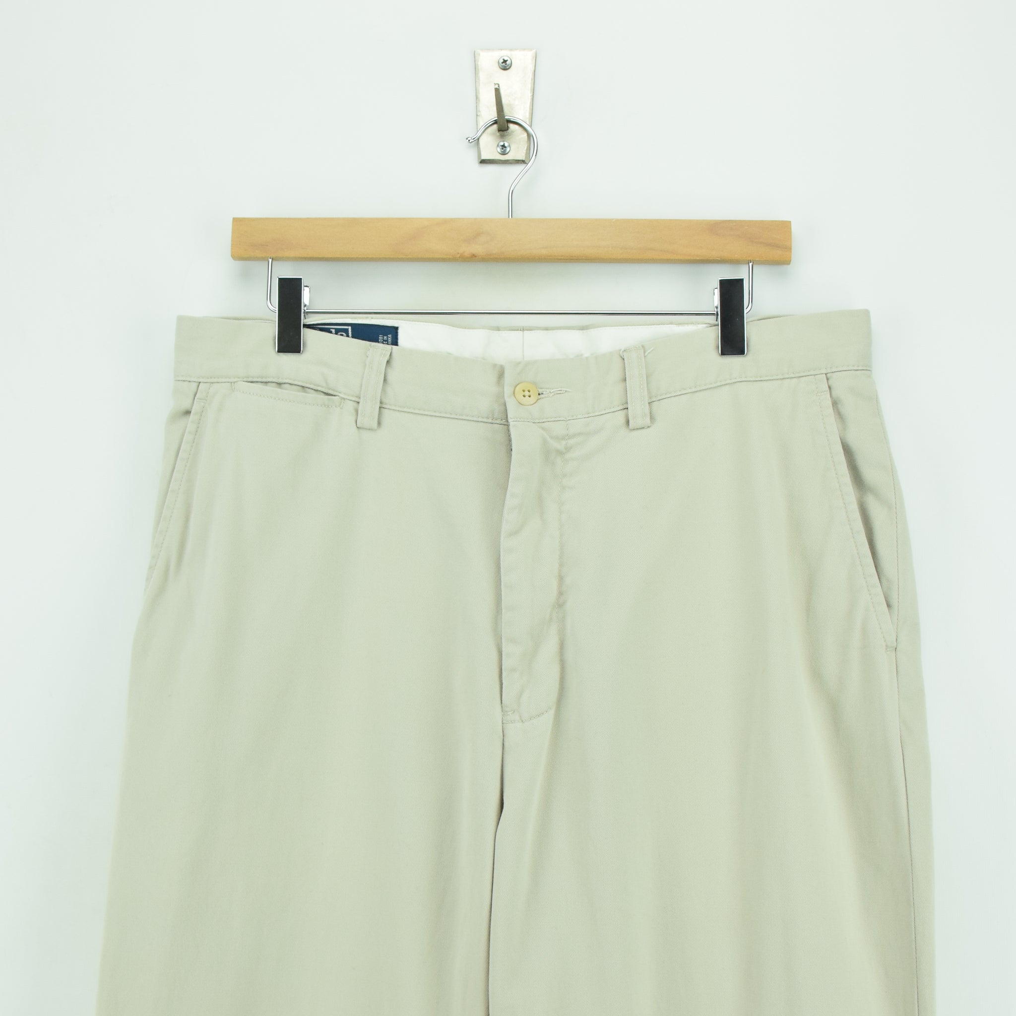 Ralph Lauren Polo Prospect Pant Chinos Stone Flat Front Trousers 32 W 30 L waist