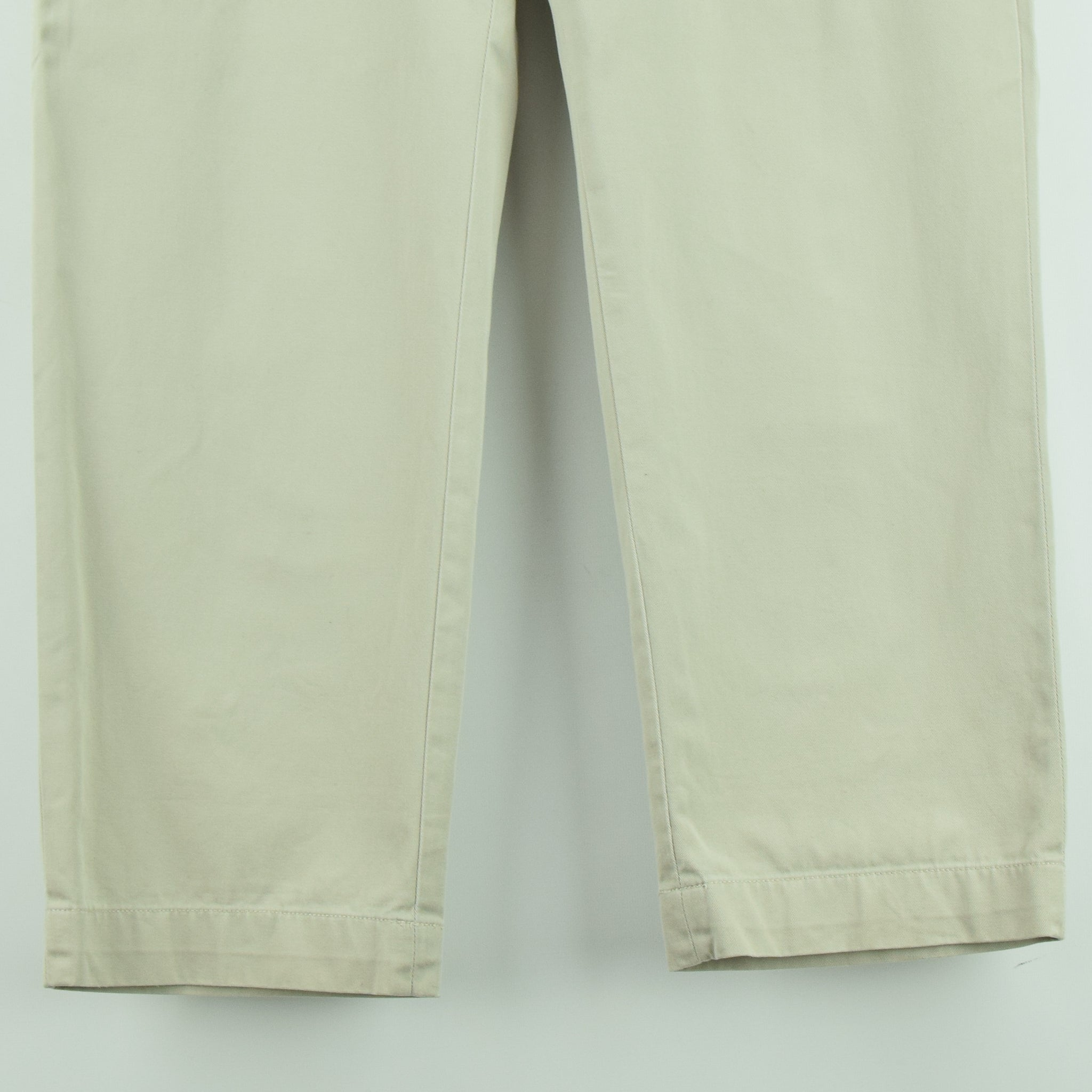 Ralph Lauren Polo Prospect Pant Chinos Stone Flat Front Trousers 32 W 30 L hem