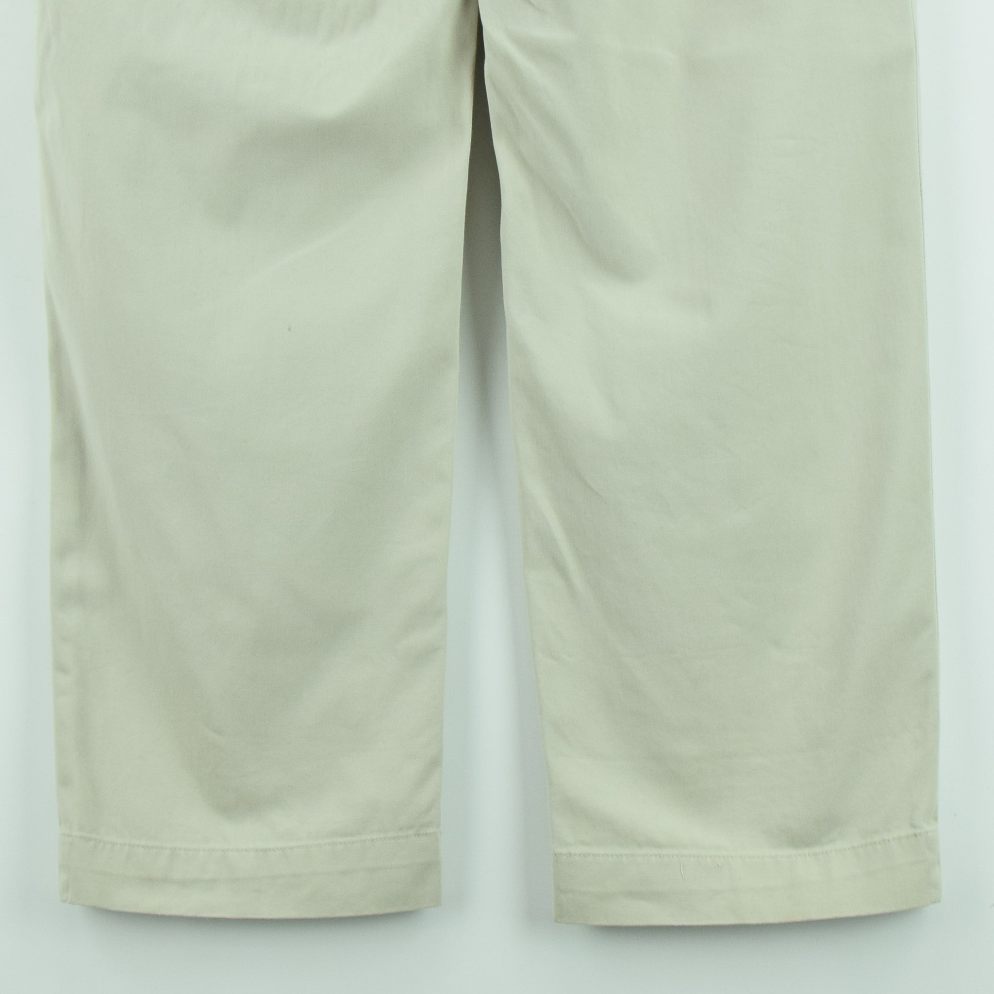 Ralph Lauren Polo Prospect Pant Chinos Stone Flat Front Trousers 32 W 30 L back hem