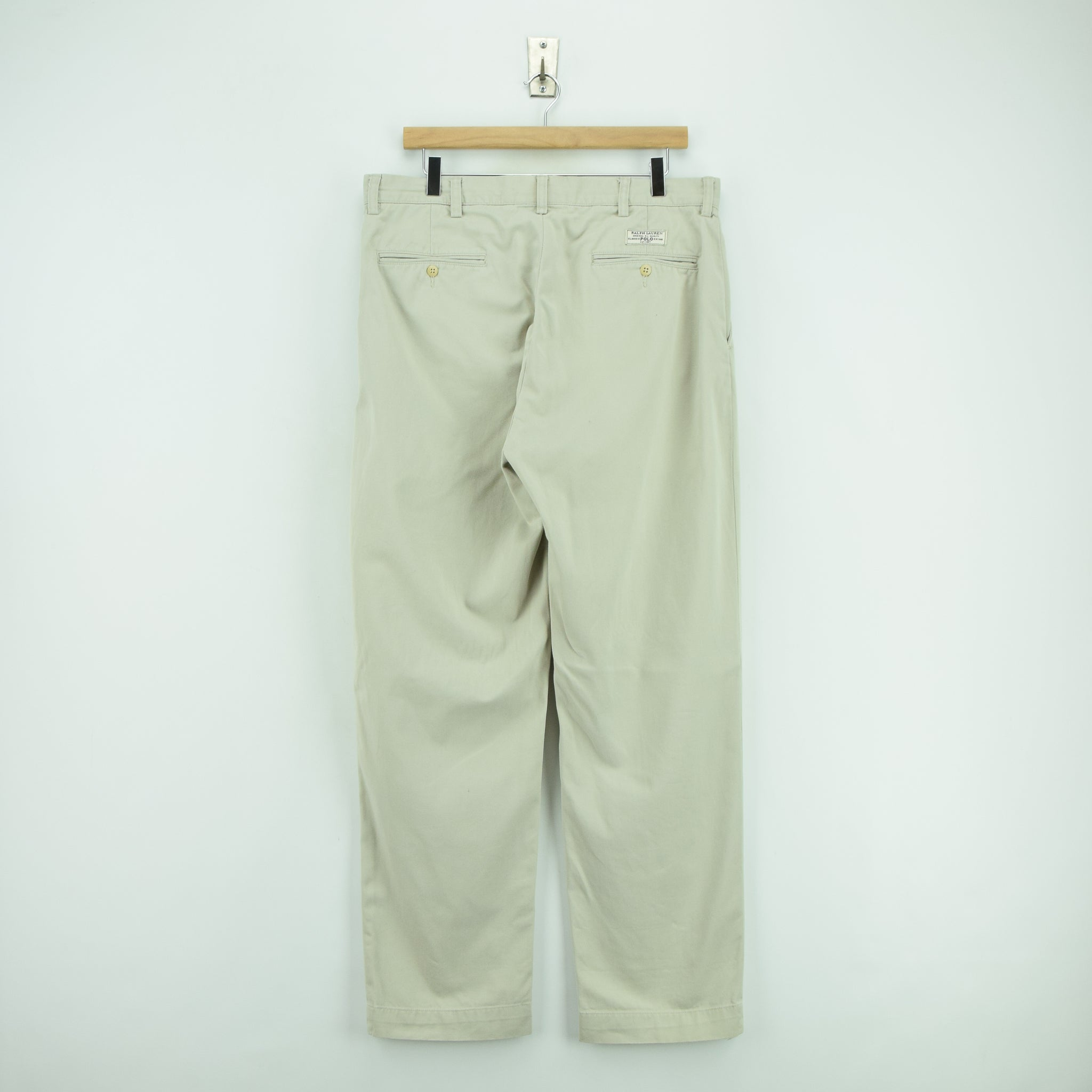 Ralph Lauren Polo Prospect Pant Chinos Stone Flat Front Trousers 32 W 30 L back