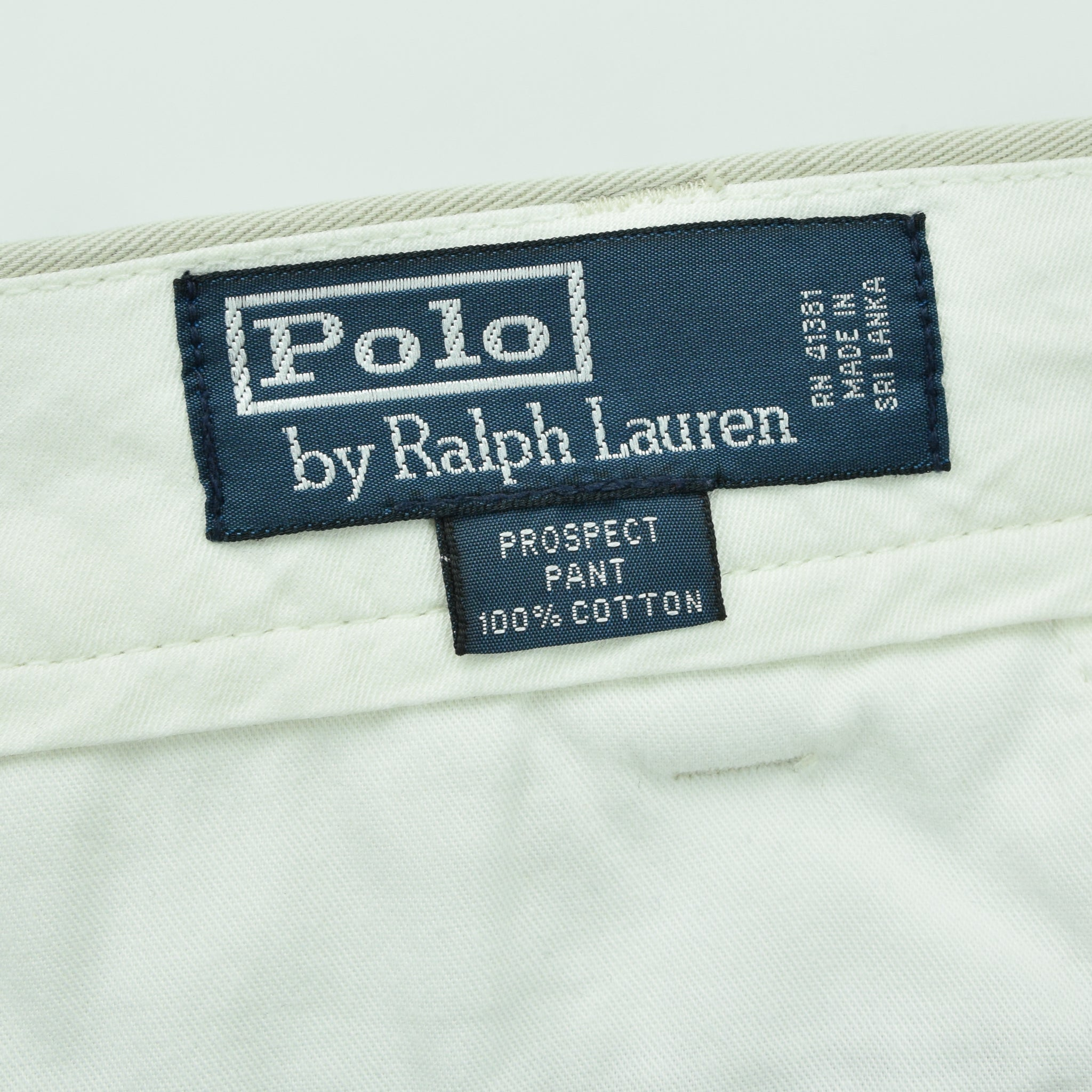 Ralph Lauren Polo Prospect Pant Chinos Stone Flat Front Trousers 32 W 30 L label