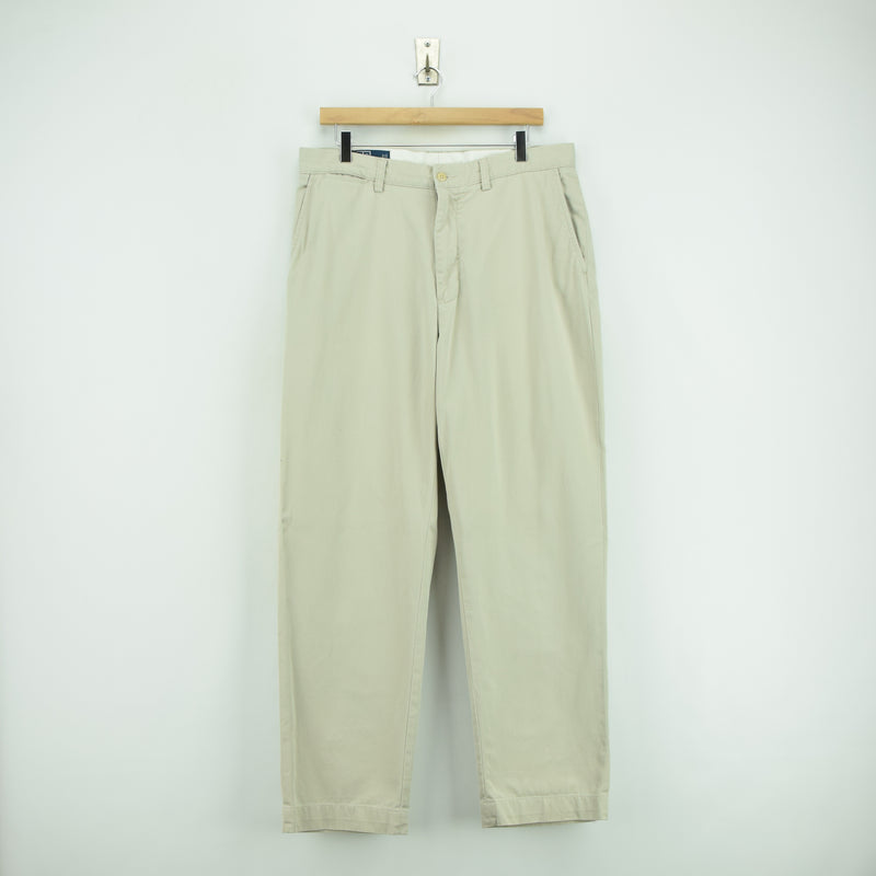 Ralph Lauren Polo Prospect Pant Chinos Stone Flat Front Trousers 32 W 30 L front