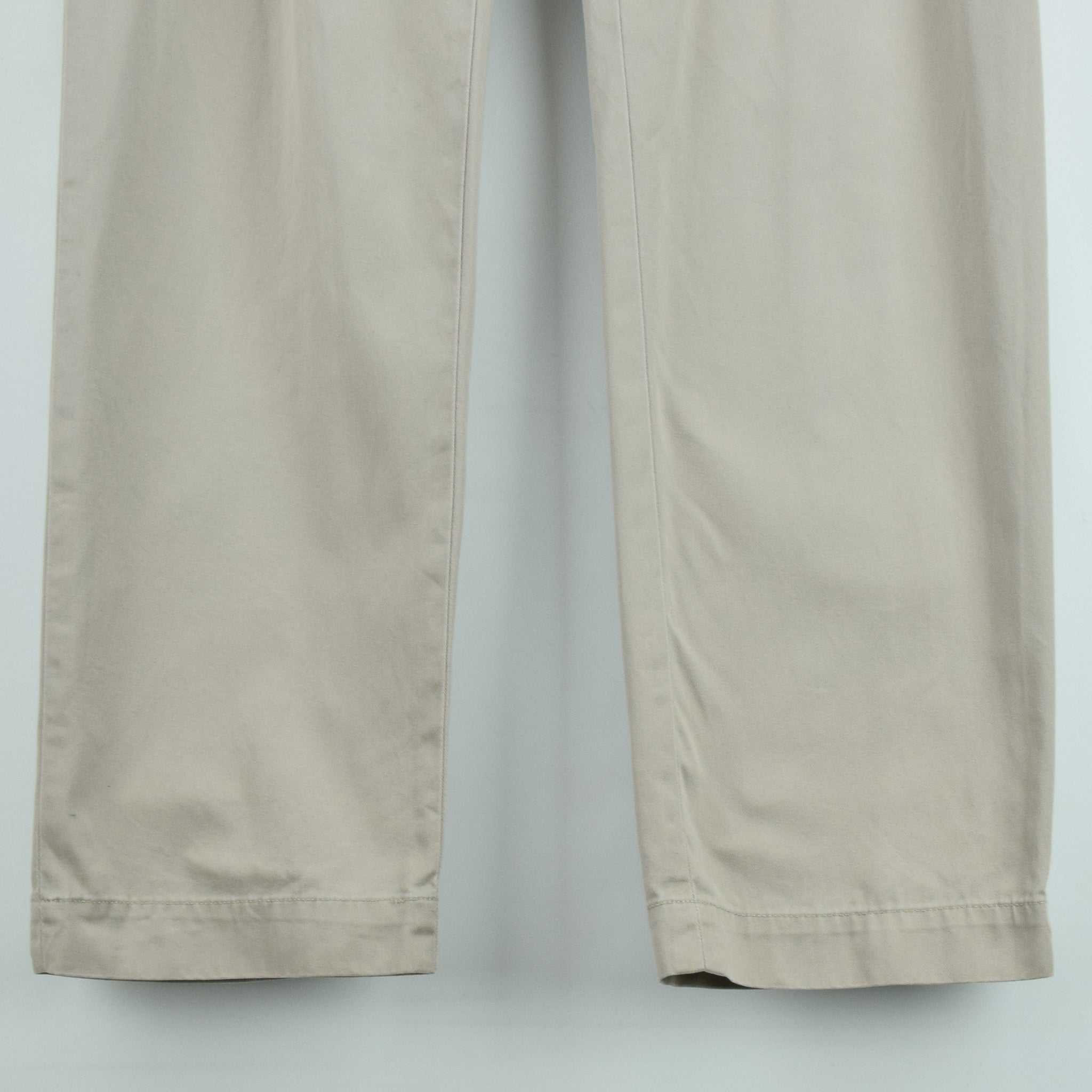 Ralph Lauren Polo Prospect Pant Chinos Stone Pleated Front Trousers 36 W 34 L front hem