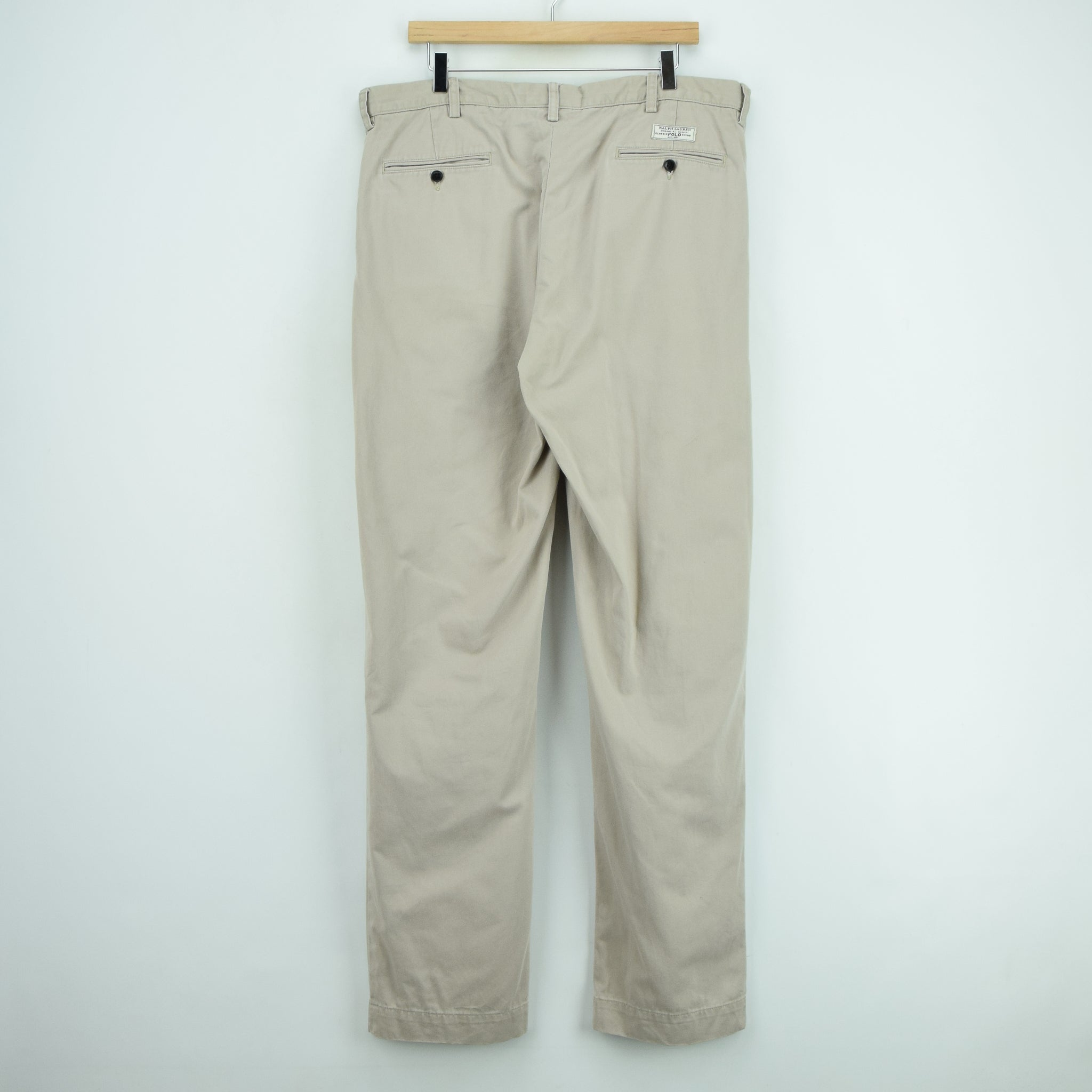 Ralph Lauren Polo Prospect Pant Chinos Stone Pleated Front Trousers 36 W 34 L back