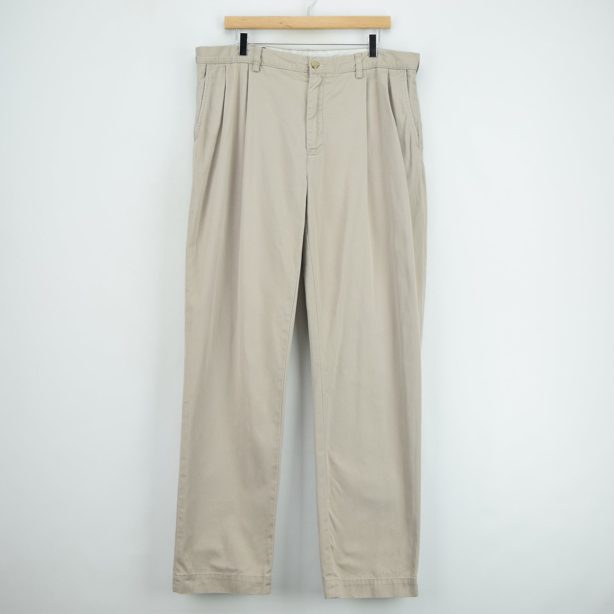 Ralph Lauren Polo Prospect Pant Chinos Stone Pleated Front Trousers 36 W 34 L front