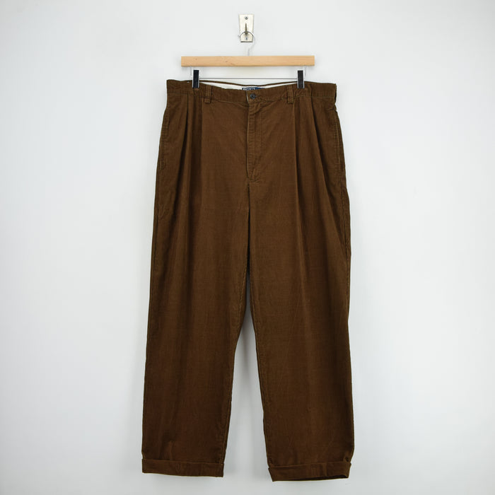 Ralph Lauren Corduroy Hammond Pant Cords Pleated Front Trousers 34 W 29 L front