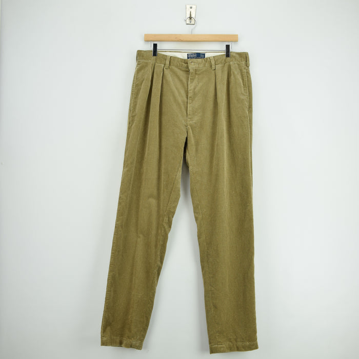 Ralph Lauren Corduroy Andrew Pant Cords Pleated Front Trousers 34 W 29 L front