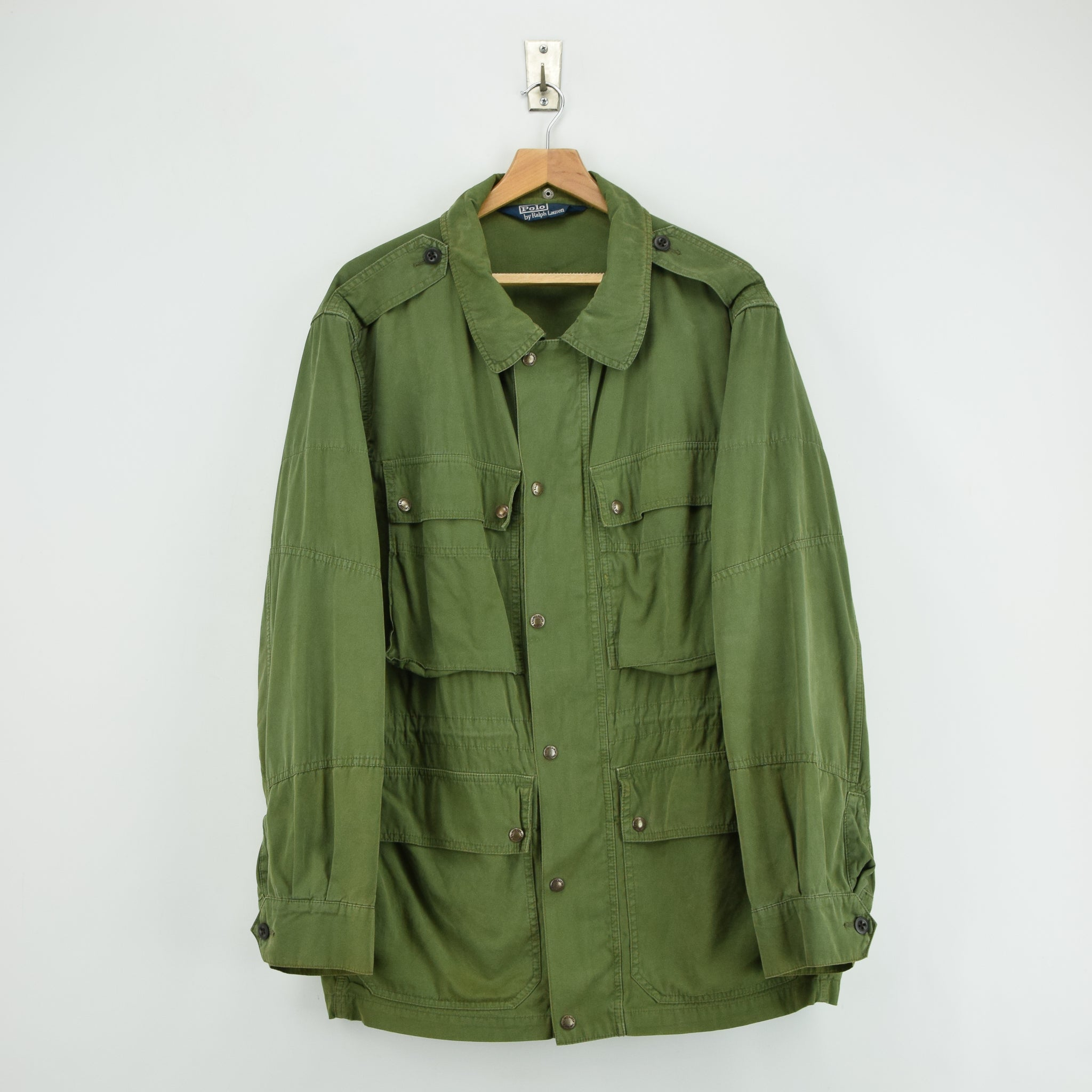 caeea5575 Ralph Lauren Polo Military M-65 Style Coat Jacket Army Green XL