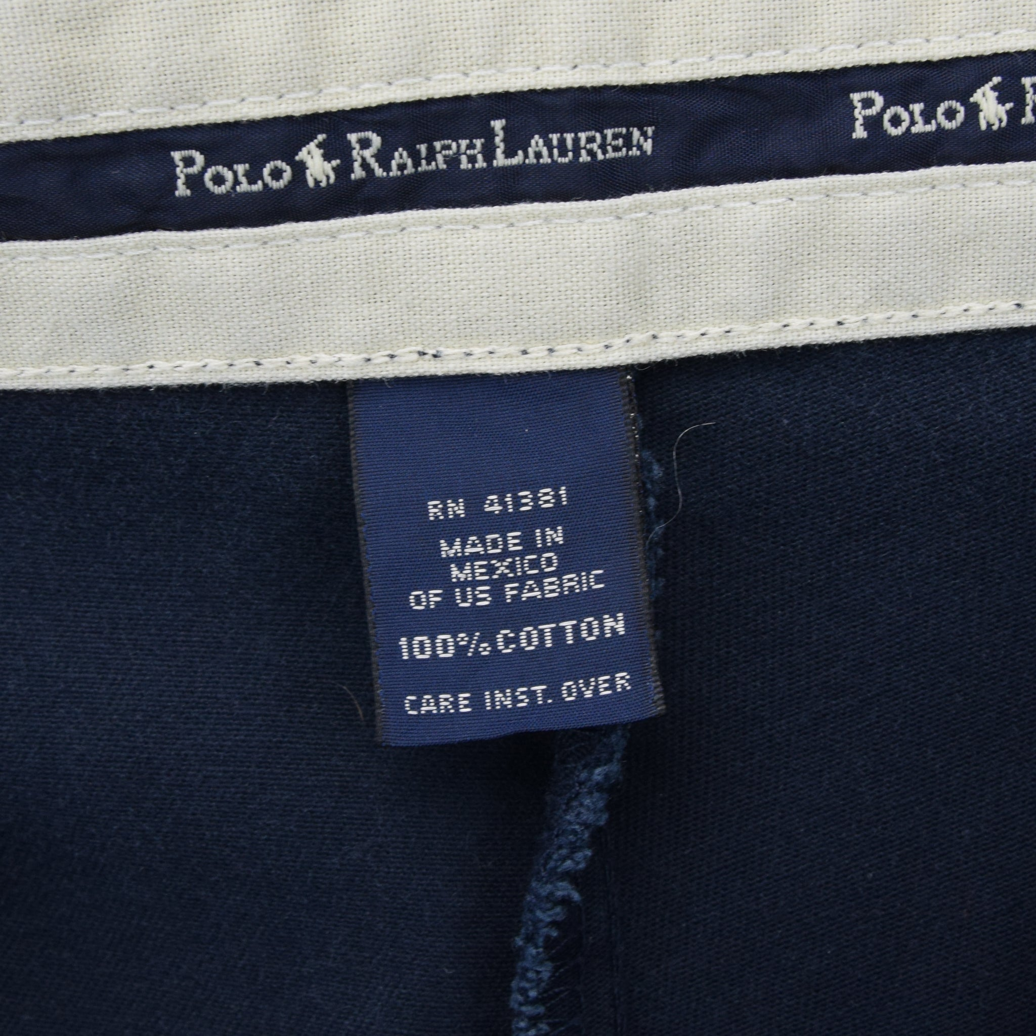 Vintage Ralph Lauren Polo Andrew Pant Chinos Pleated Front Trousers 34 W 26 L label