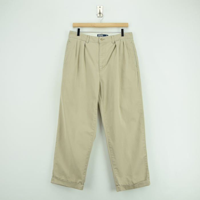Ralph Lauren Polo Andrew Pant Chinos Stone Pleated Front Trousers 30 W 27 L front