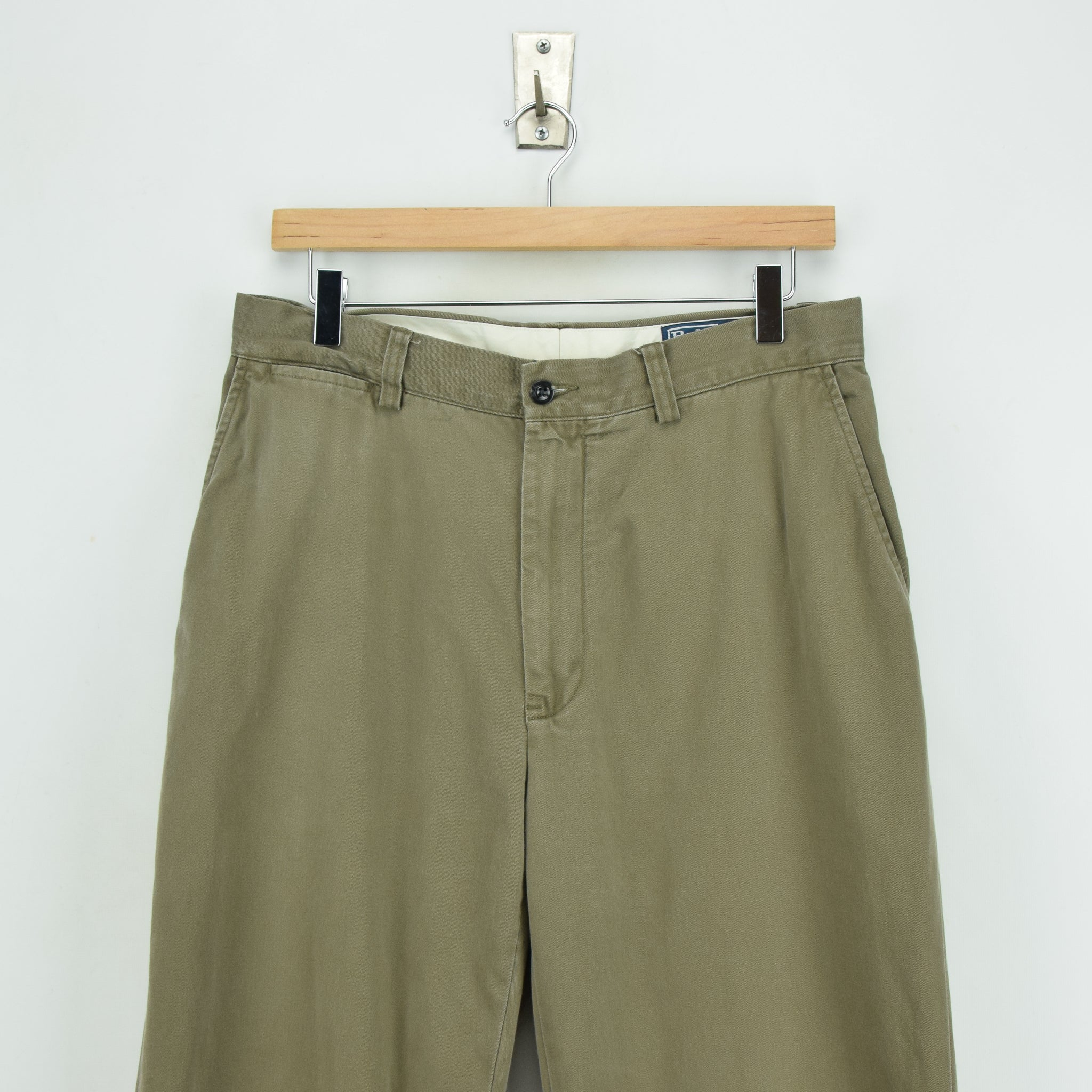 cbc50a2dc ... Ralph Lauren Polo Prospect Pant Chinos Stone Flat Front Trousers 30 W  30 L front waist ...