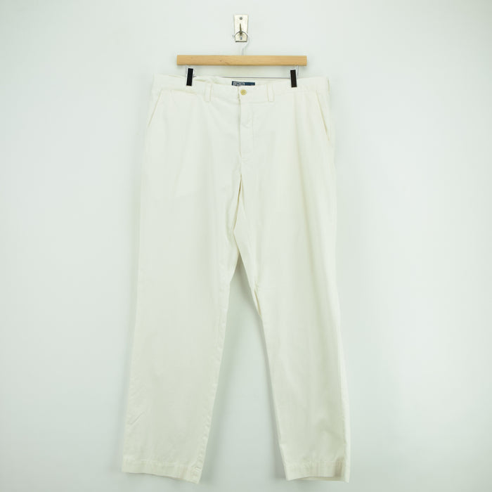 Vintage Ralph Lauren Polo Preston Pant Chinos Flat Front Trousers 38 W 33 L front
