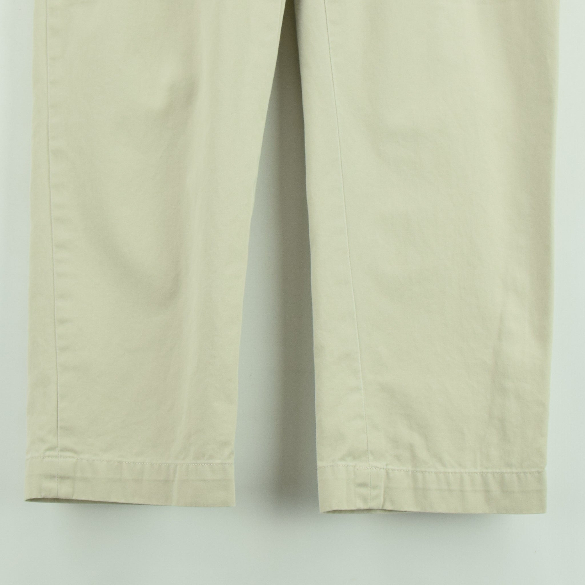 Vintage Ralph Lauren Polo Ethan Pant Chinos Pleated Front Trousers 32 W 28 L front hem