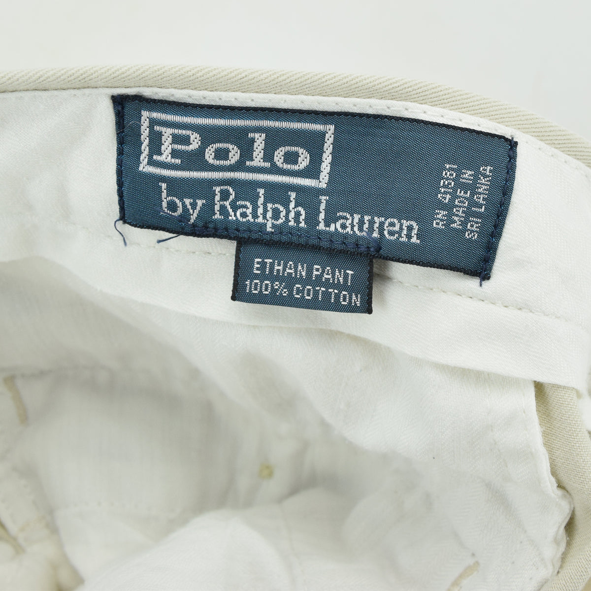 Vintage Ralph Lauren Polo Ethan Pant Chinos Pleated Front Trousers 32 W 28 L label