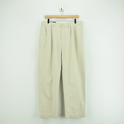 Vintage Ralph Lauren Polo Ethan Pant Chinos Pleated Front Trousers 32 W 28 L front