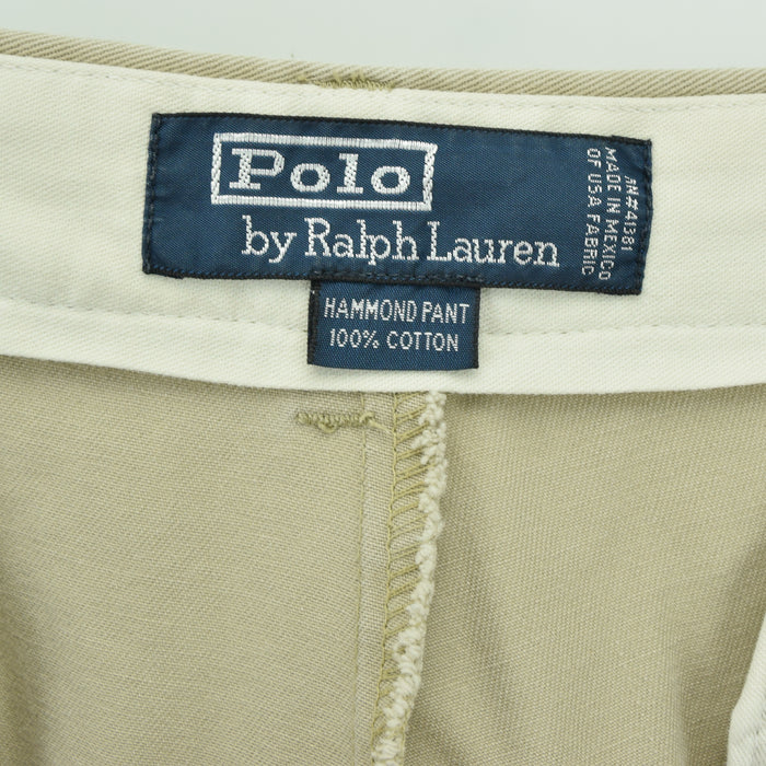 Vintage Ralph Lauren Polo Hammond Pant Chinos Pleated Front Trousers 32 W 29 L label