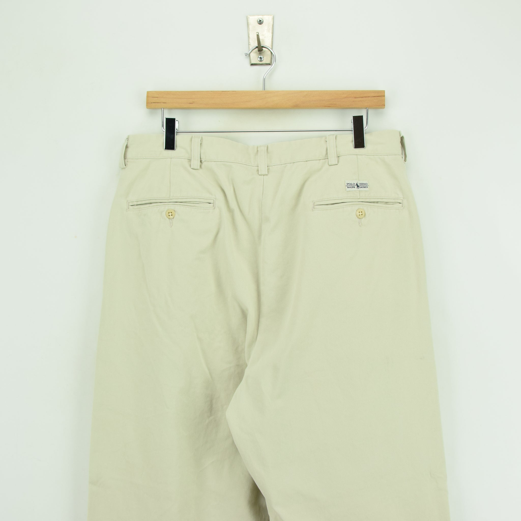 Vintage Ralph Lauren Polo Andrew Pant Chinos Pleated Front Trousers 32 W 28 L back waist
