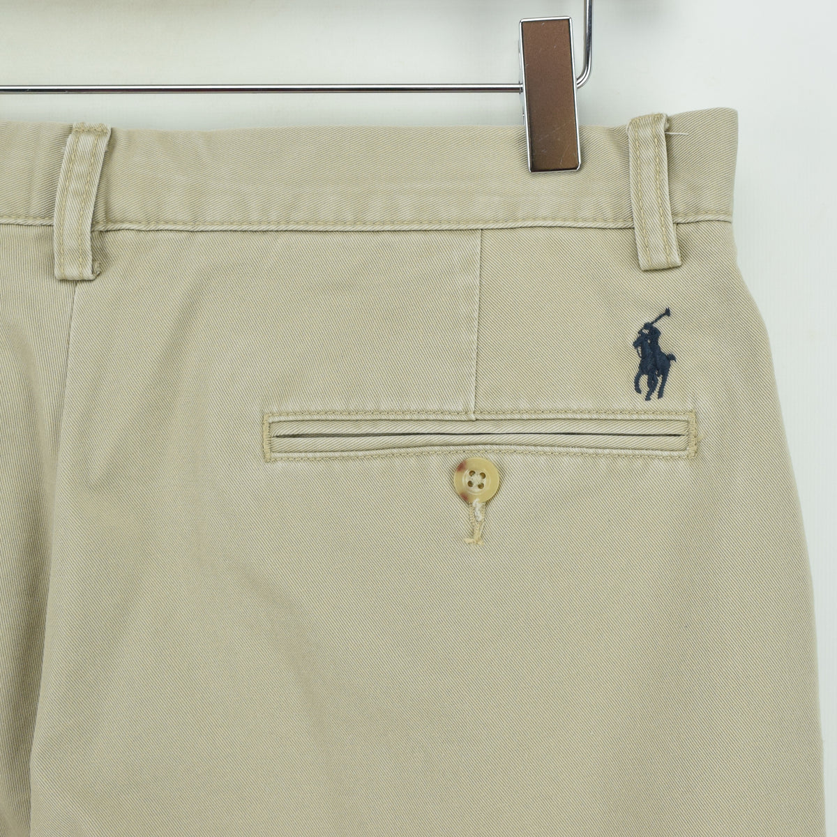 Vintage Ralph Lauren Polo Preston Pant Chinos Flat Front Trousers 32 W 29 L back waist