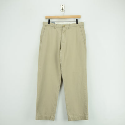 Vintage Ralph Lauren Polo Preston Pant Chinos Flat Front Trousers 32 W 29 L front
