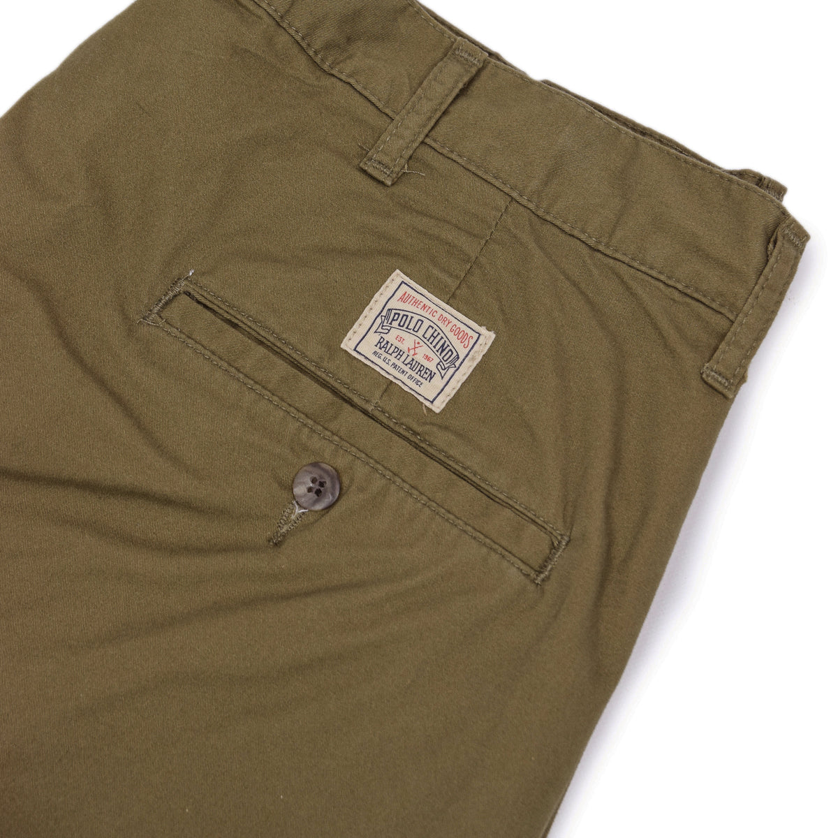 Vintage 90s Deadstock Polo Ralph Lauren Double Pleated Chino Shorts 32 W  patch label