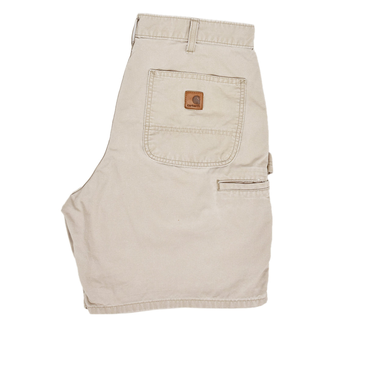 Vintage Carhartt Stone Cotton Canvas Utility Work Shorts 32 W back