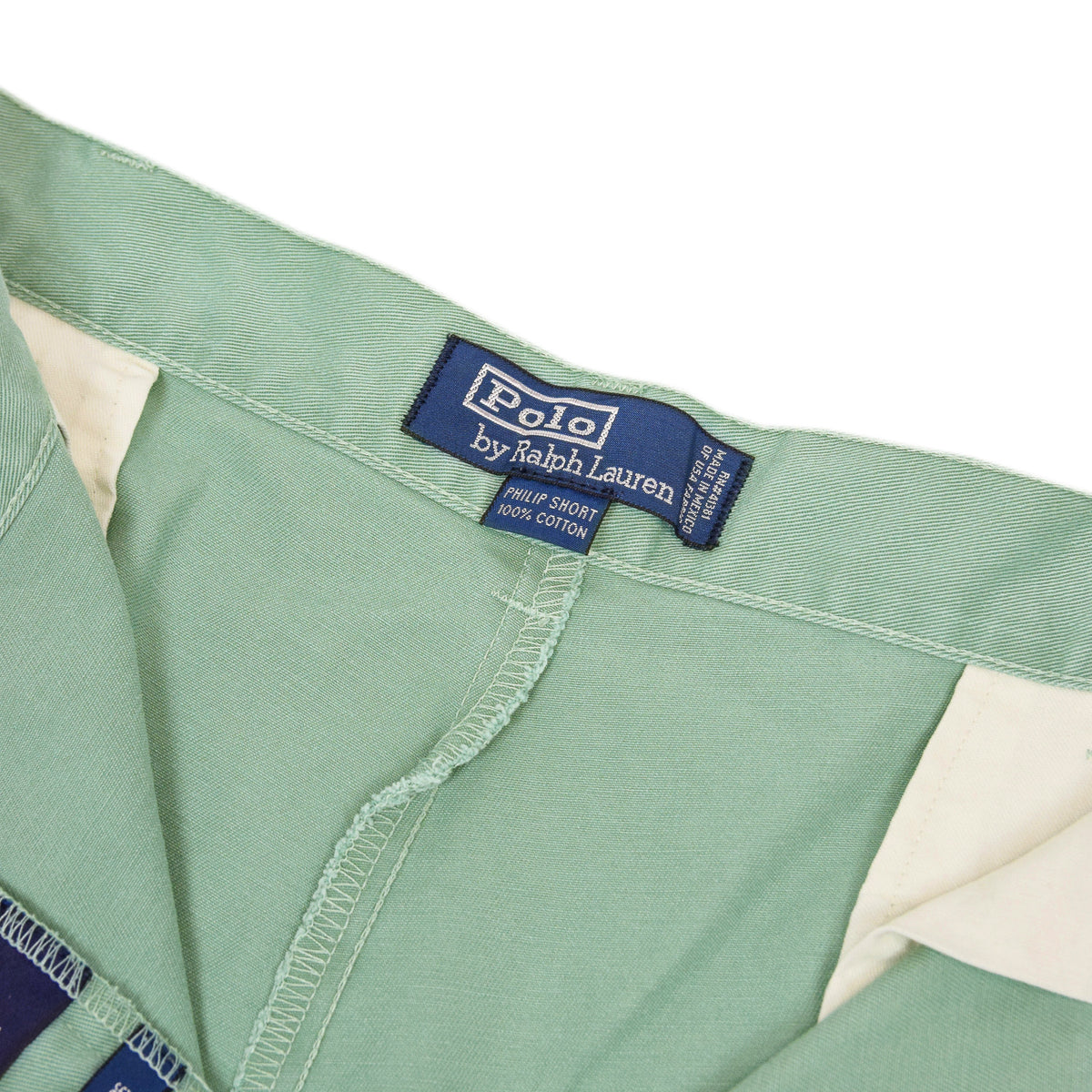 Vintage 90s Polo Ralph Lauren Philip Green Cotton Chino Shorts 36 W logo label