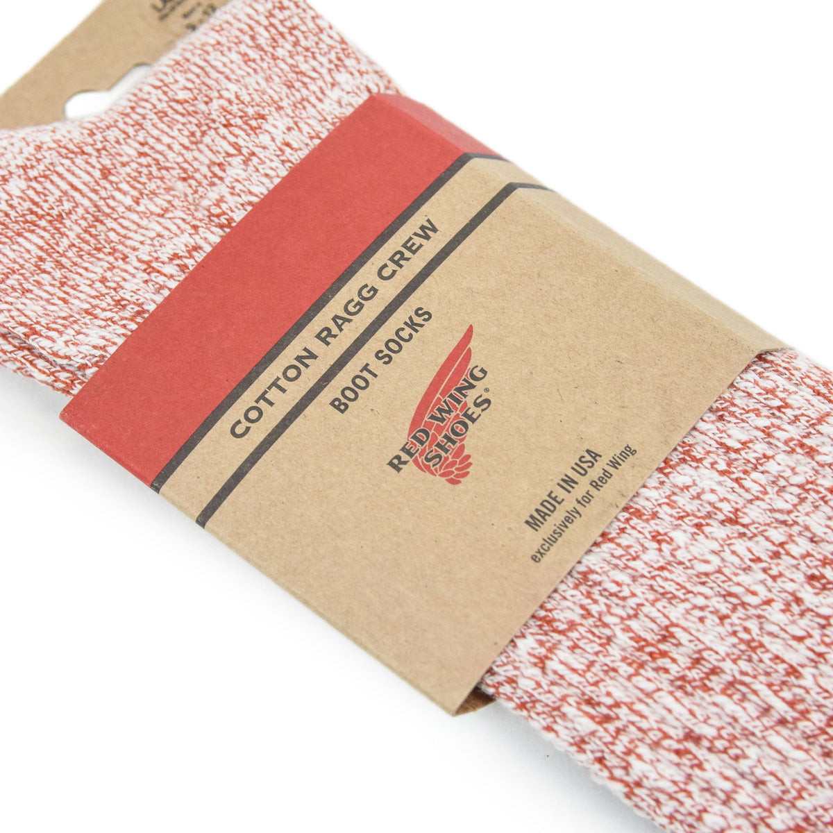 Red Wing Cotton Ragg Socks Rust / White packaging