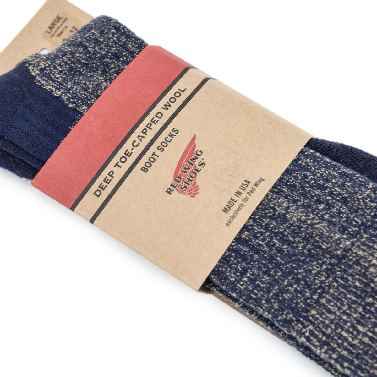 Red Wing Deep Toe Capped Socks Navy packaging