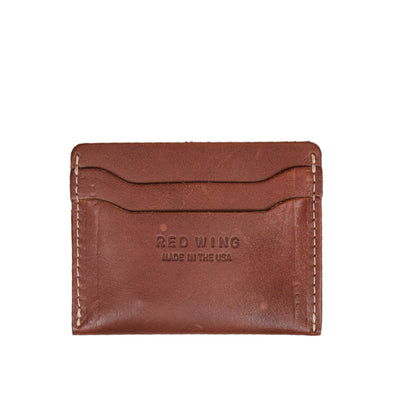 Red Wing Oro Russet Frontier Leather Card Holder Made in USA front