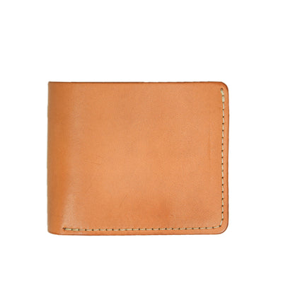 Red Wing Veg Tan Leather Classic Bifold Wallet Made in USA front
