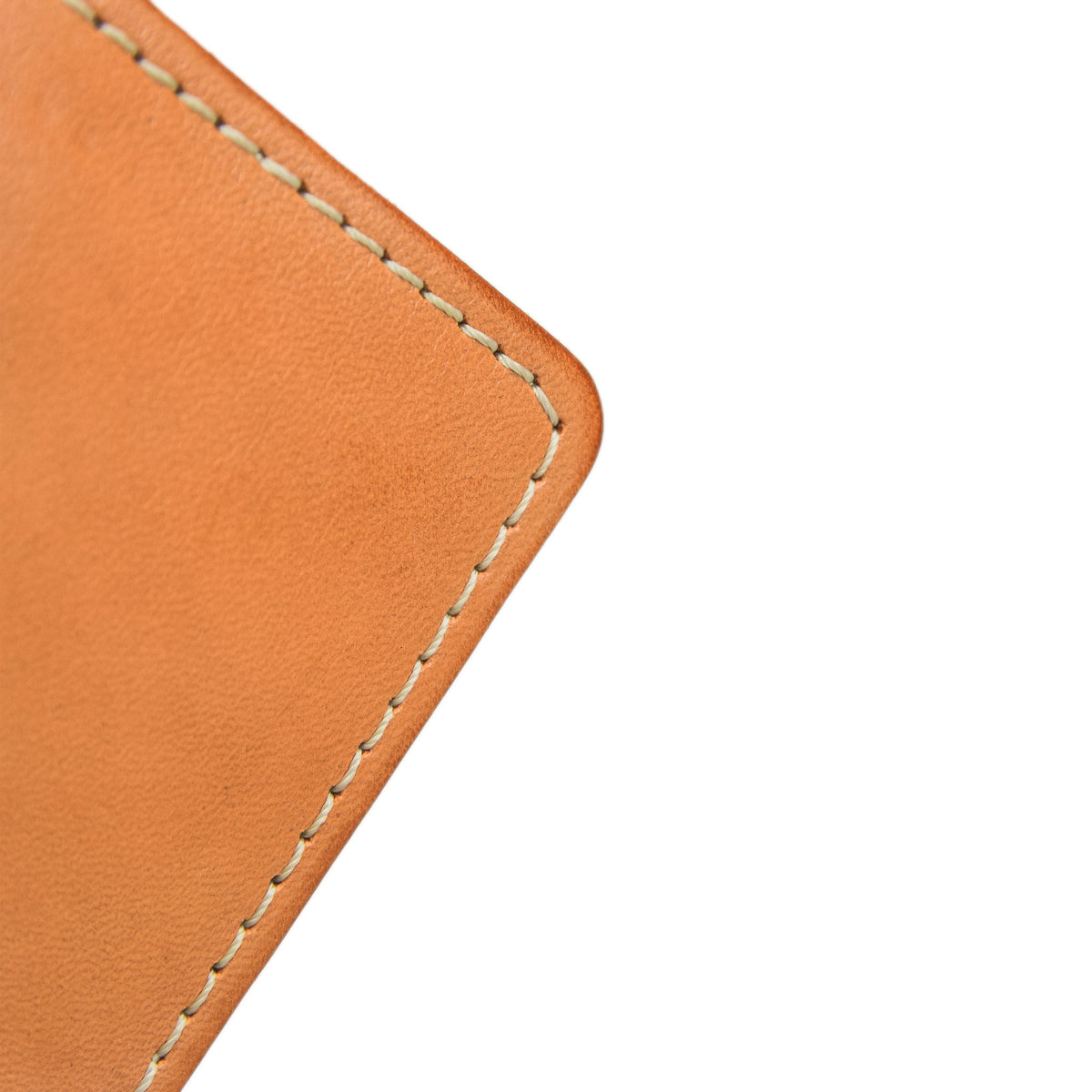 Red Wing Veg Tan Leather Classic Bifold Wallet Made in USA stitching
