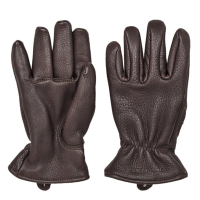 Red Wing Lined Buckskin Leather Gloves Brown FRONT AND BACK