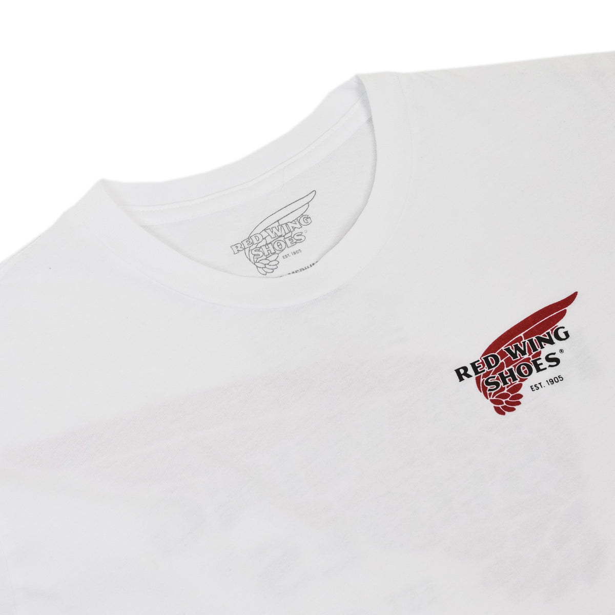 Red Wing 97403 Logo Tee White Made in USA print