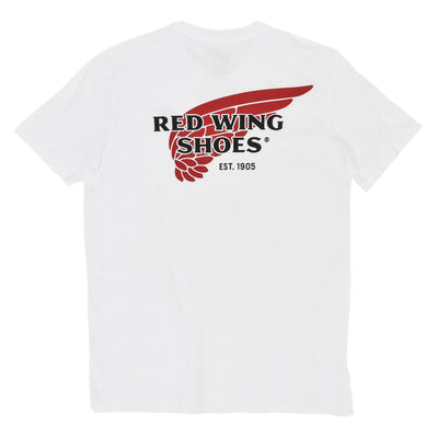 Red Wing 97403 Logo Tee White Made in USA back
