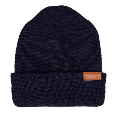 Red Wing Merino Wool Knit Beanie Navy front