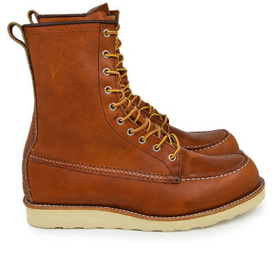 Red Wing 877 Heritage 8 Inch Work Boot Oro Legacy Leather Boot side