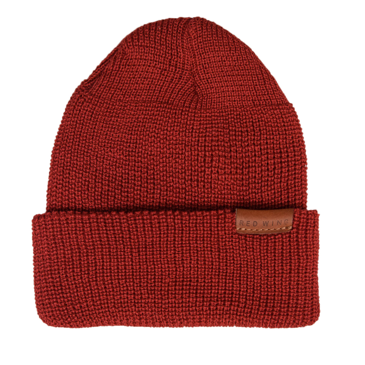 Red Wing Merino Wool Knit Beanie Red front
